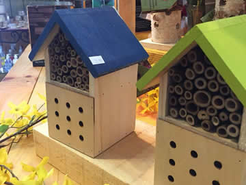 Bird houses, bird feeders and bird seed