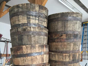 Whiskey Barrels New Boston
